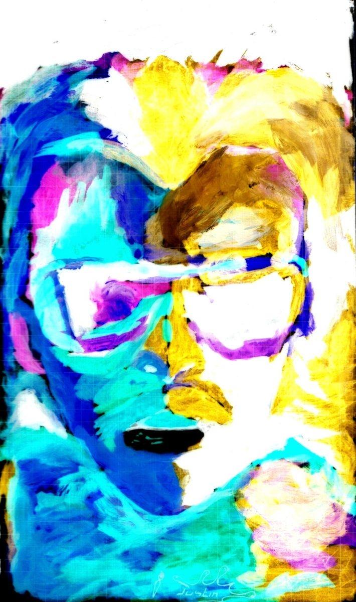 Portrait Y-Blue