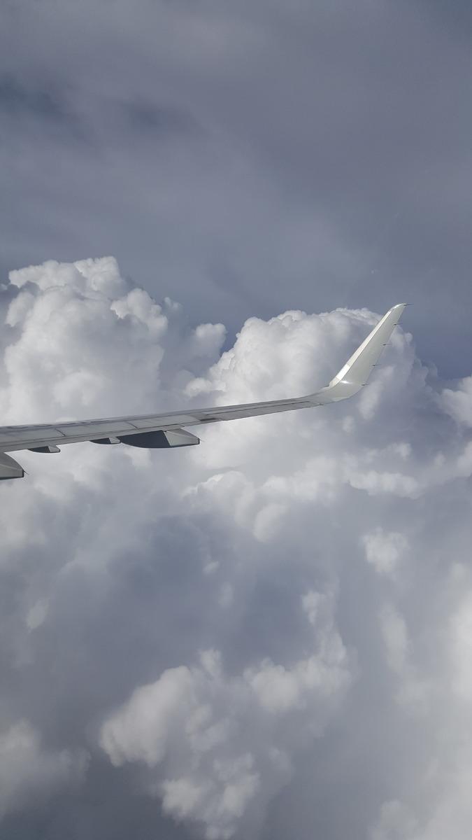 Cloud formations on a flight into Bangkok