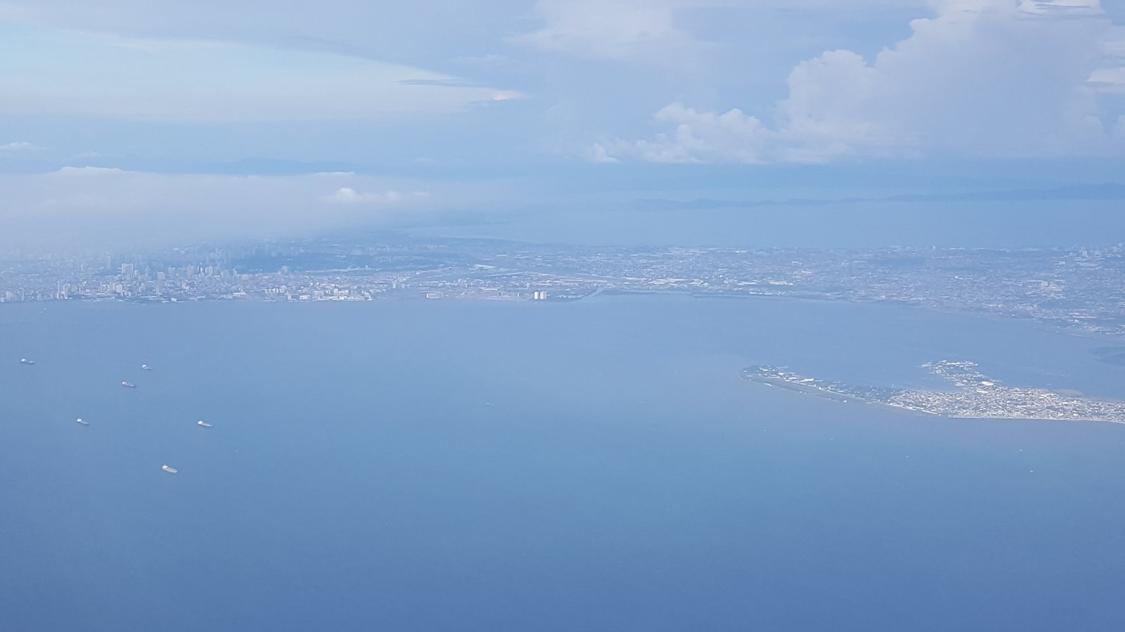 Sangley Point, Cavite and Manila Bay from the air