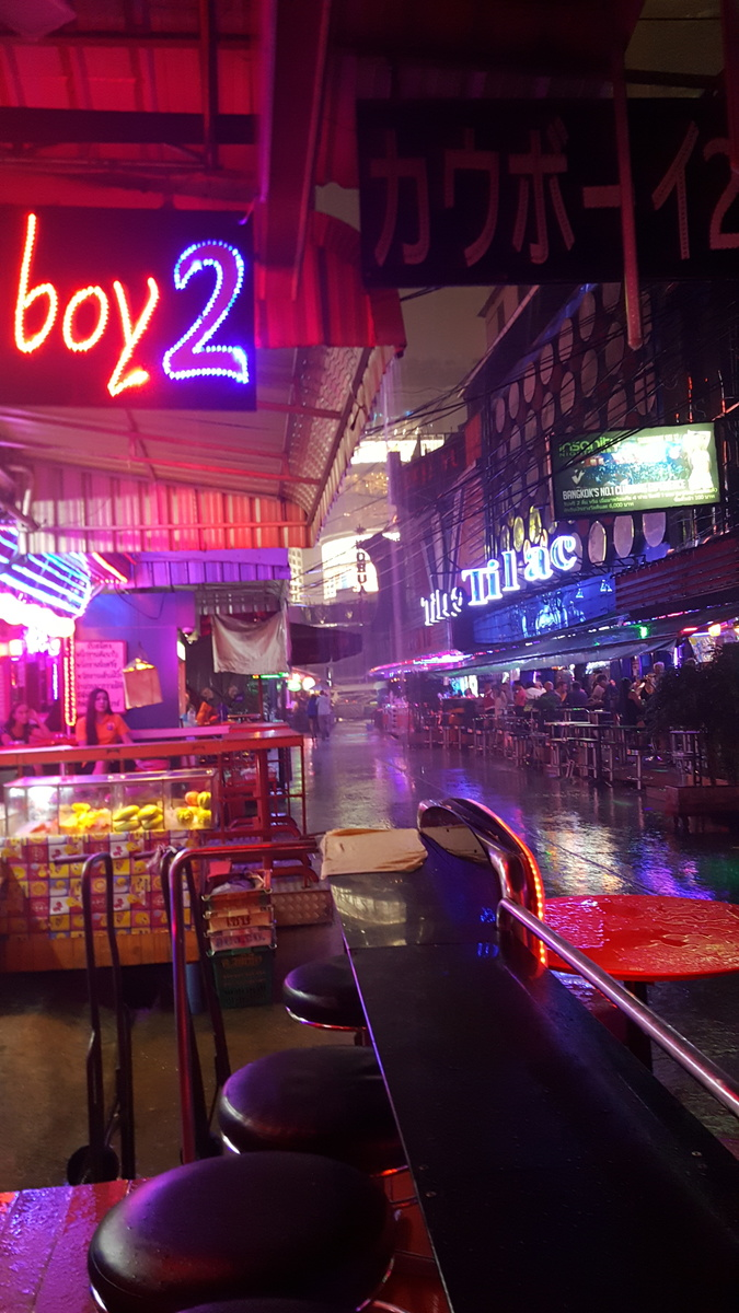 Rain stops play in Soi Cowboy - outside, at least!