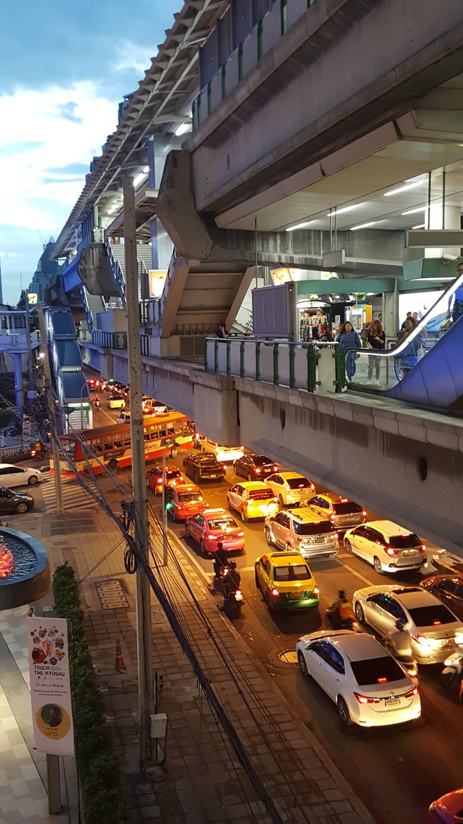 Sukhumvit traffic jams or the BTS Skytrain - the choice is yours!