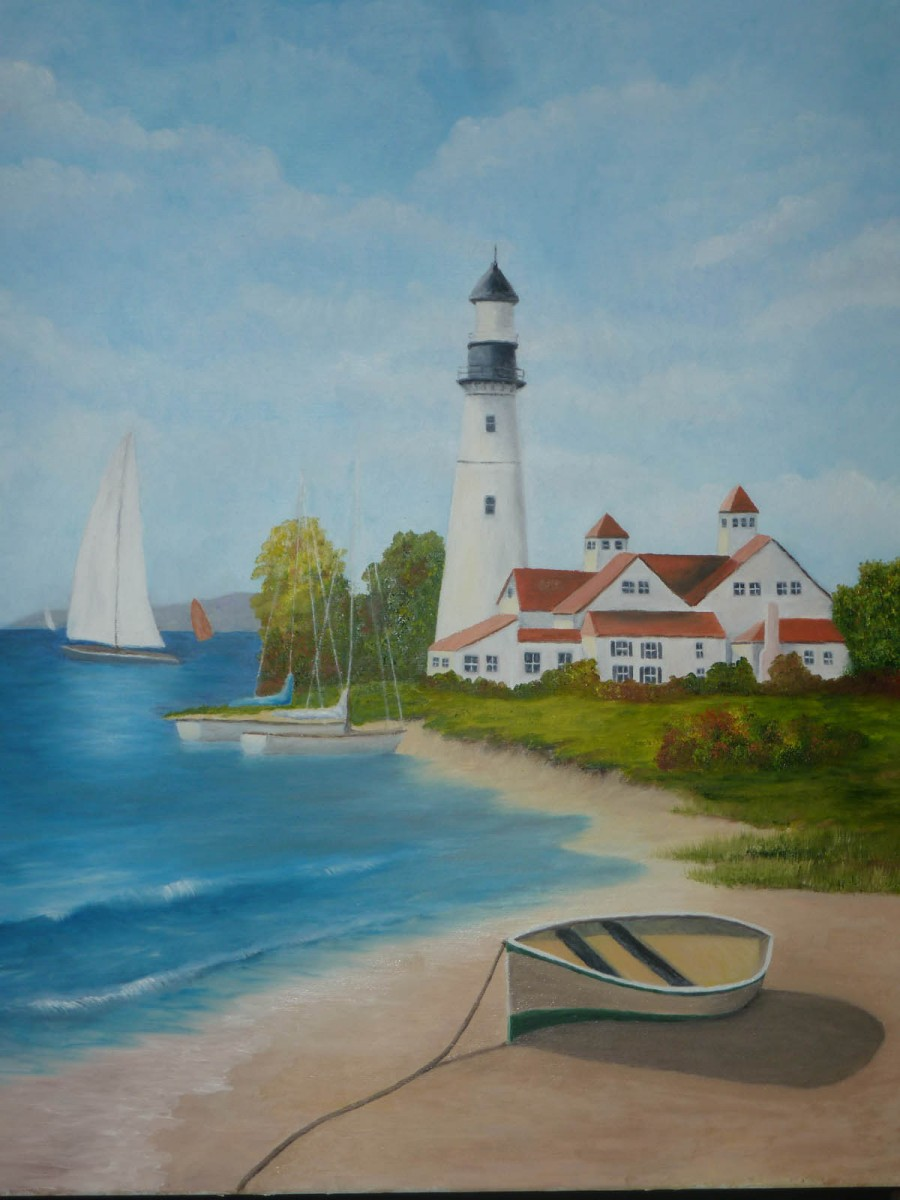 Sailboat and a Lighthouse