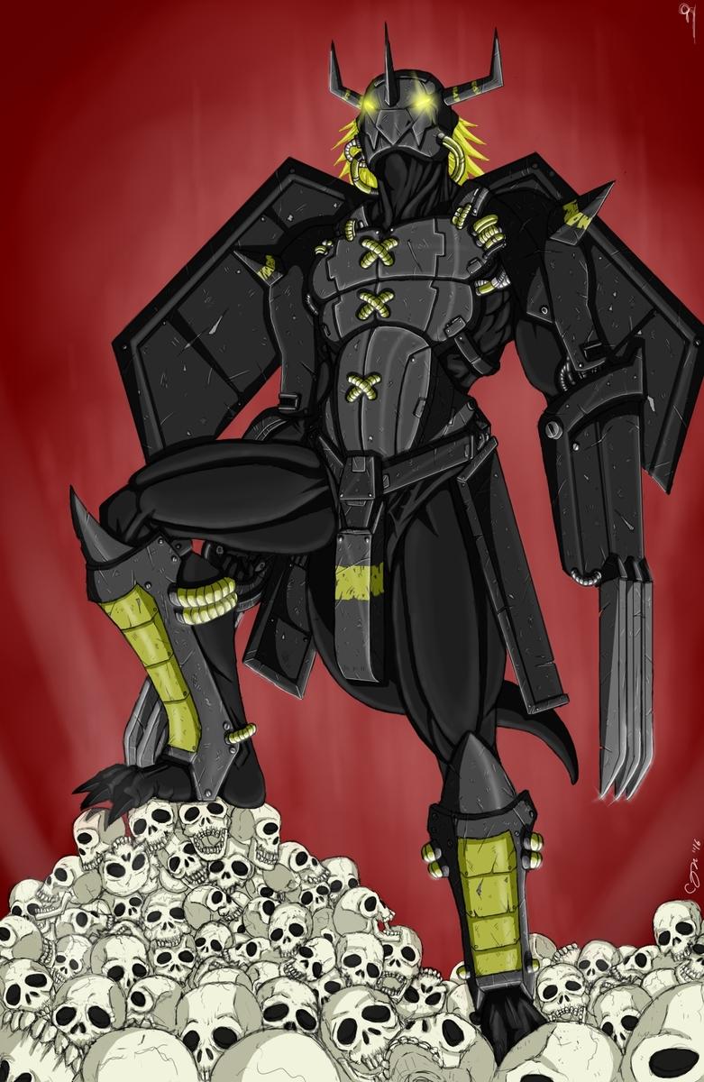 """Black """"Warlord"""" Greymon"""