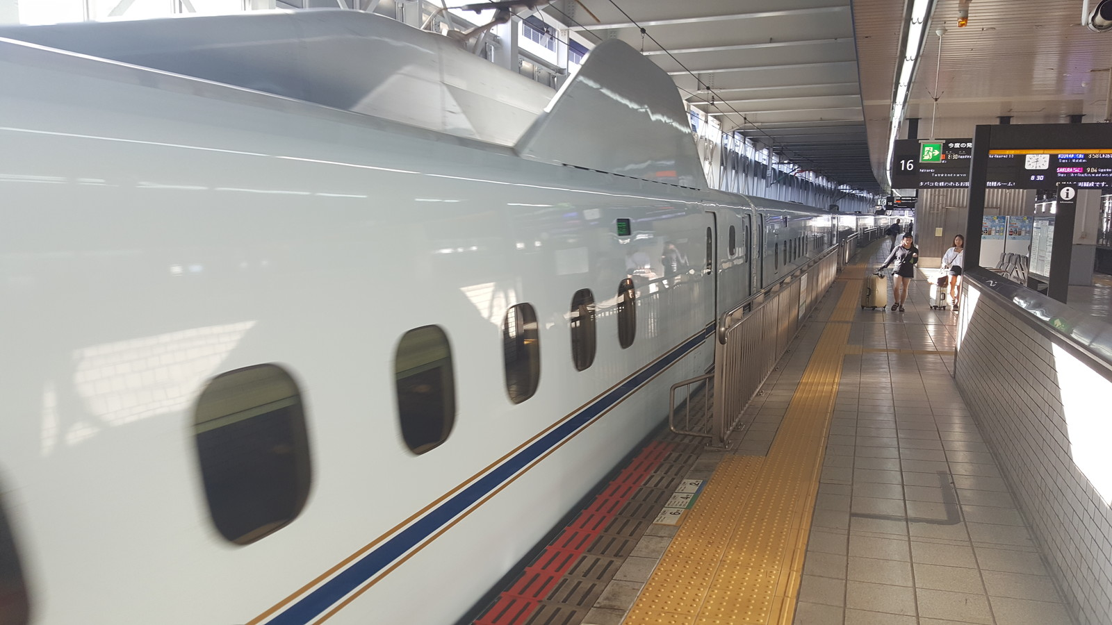 White Shinkansen Bullet Train!