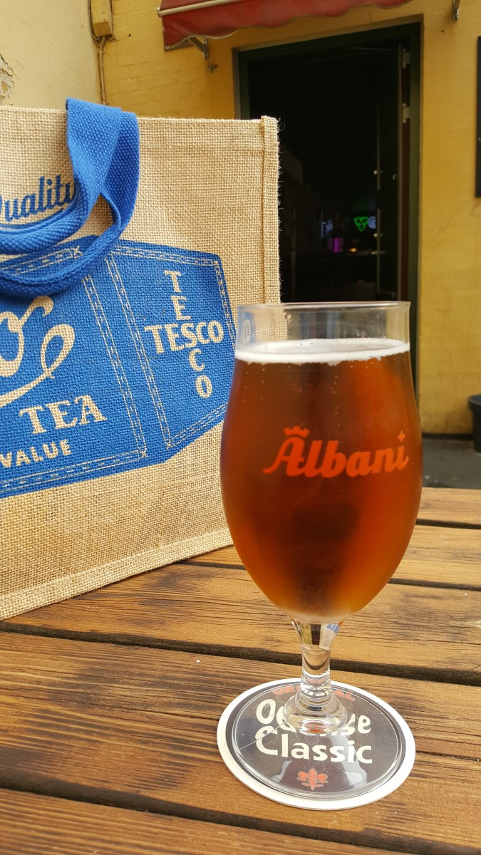 Albani Odense classic Danish beer - the groceries can wait!