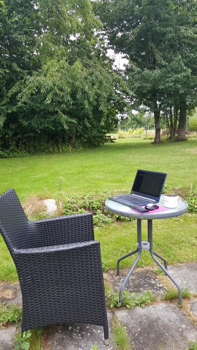 Summertime garden in Denmark