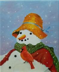 Snowman and Redbird