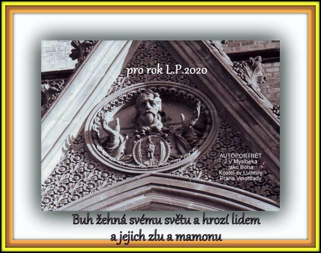 God blesses his world - Church of St. Ludmila - Prague Vinohrady
