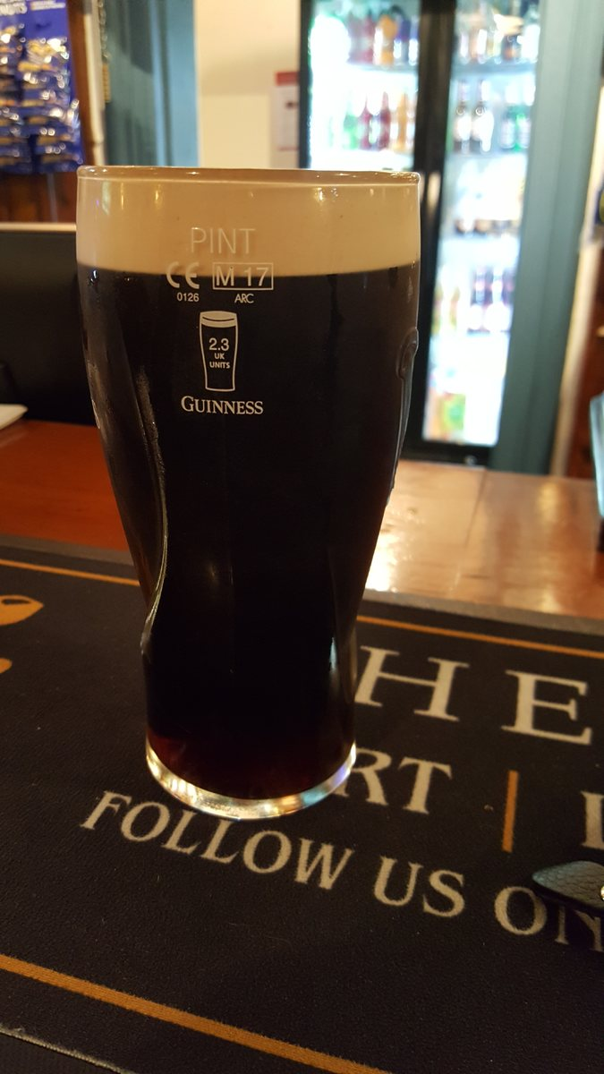 Draught Guinness at the Royal Oak in Hollywater