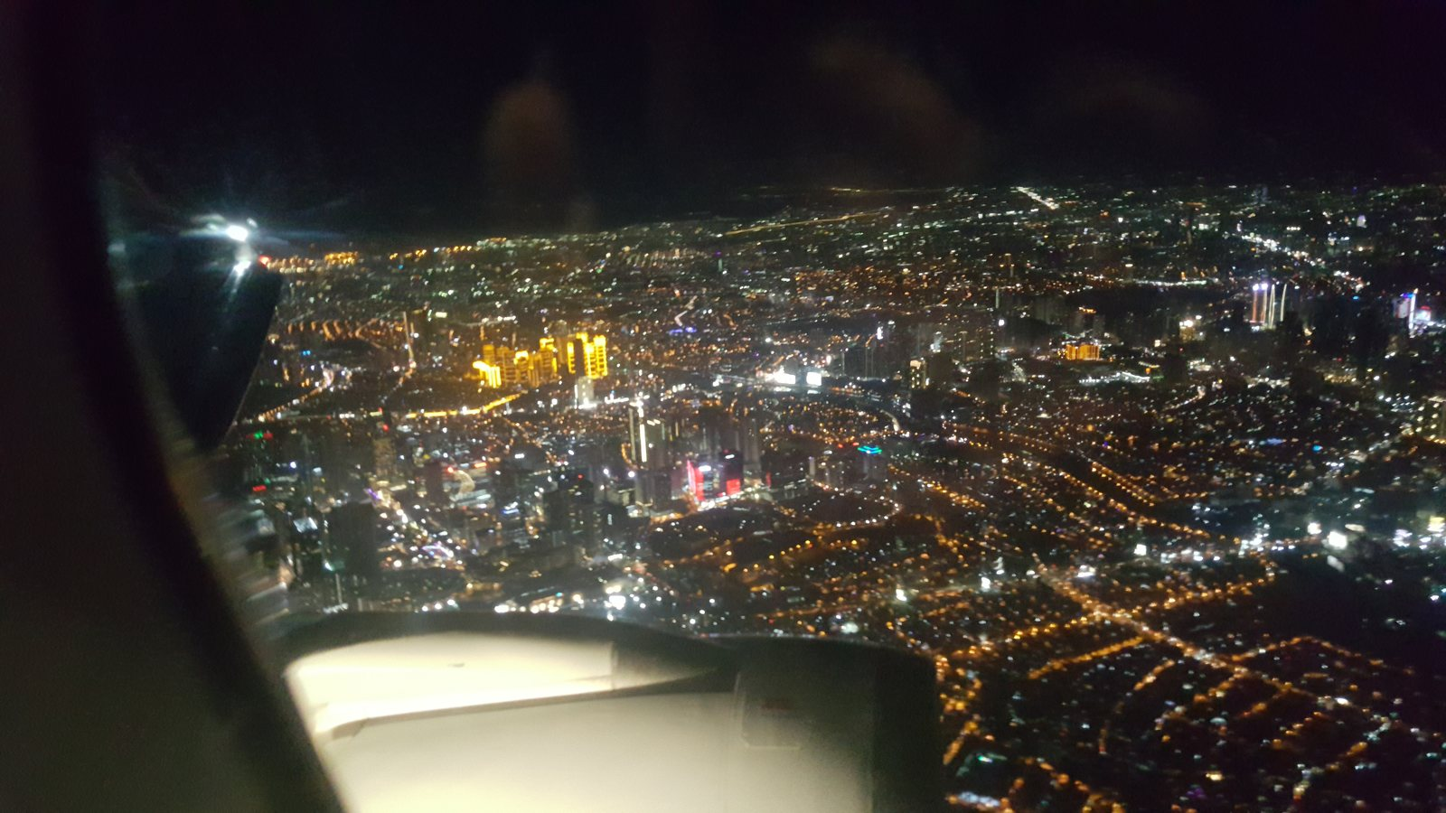 Nice view of Makati and Mandaluyong from the air