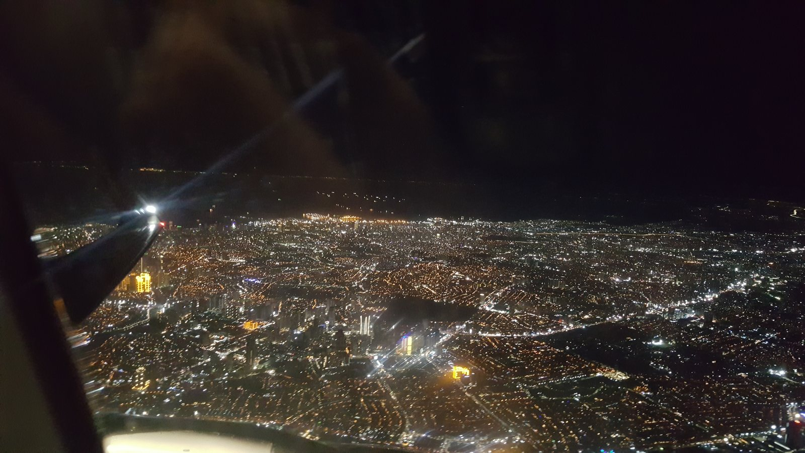 Manila from the air on Christmas Eve