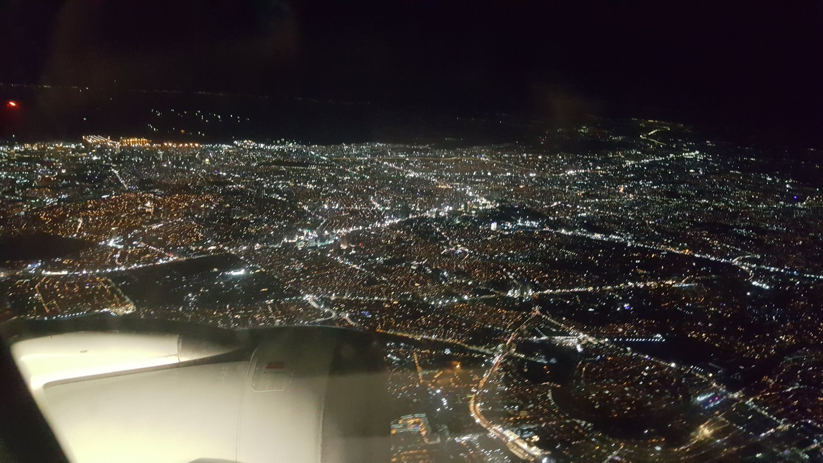 Nice view of Manila from the air on a clear December night
