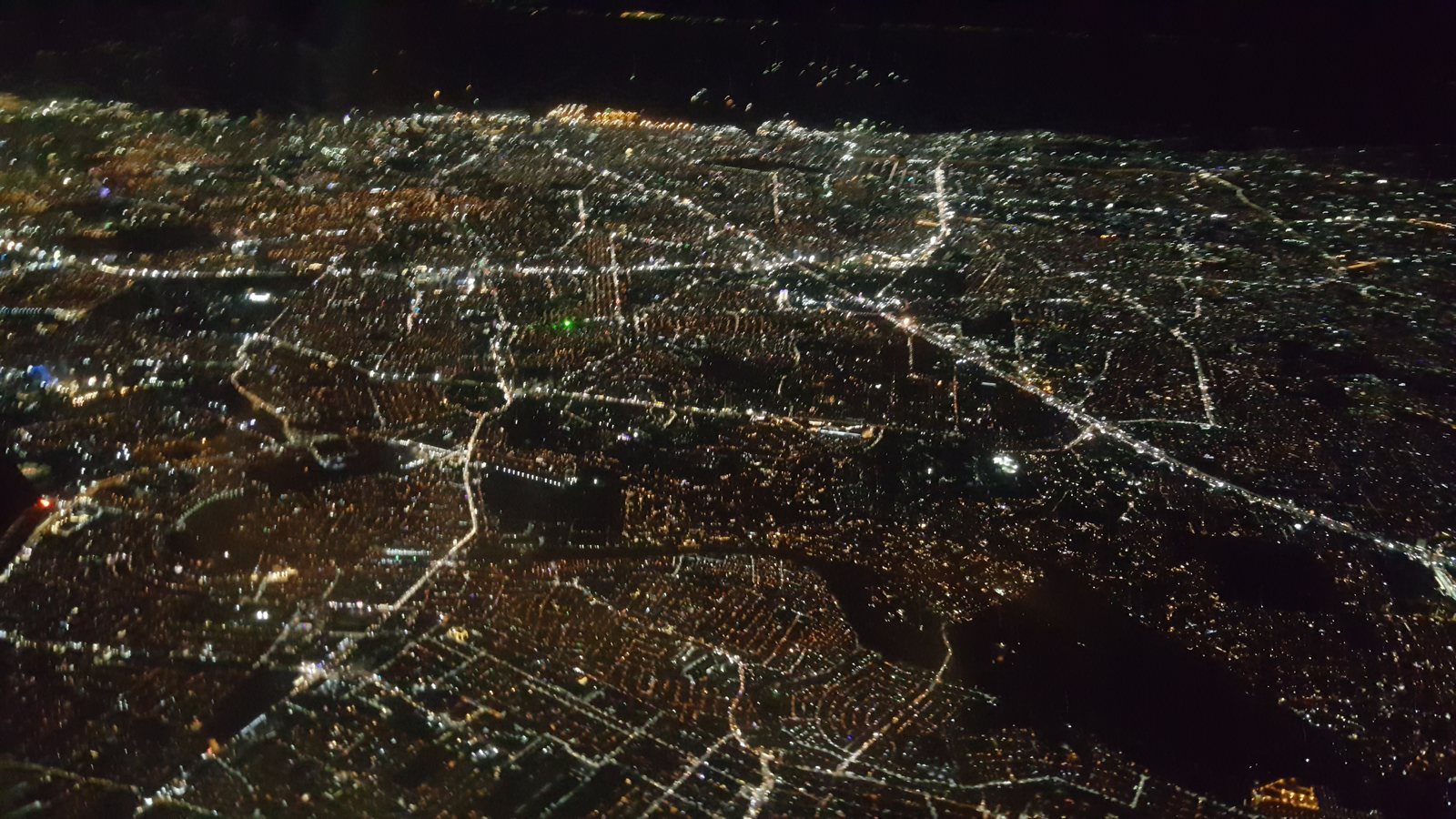 Aerial view of Manila on Christmas Eve, 2019