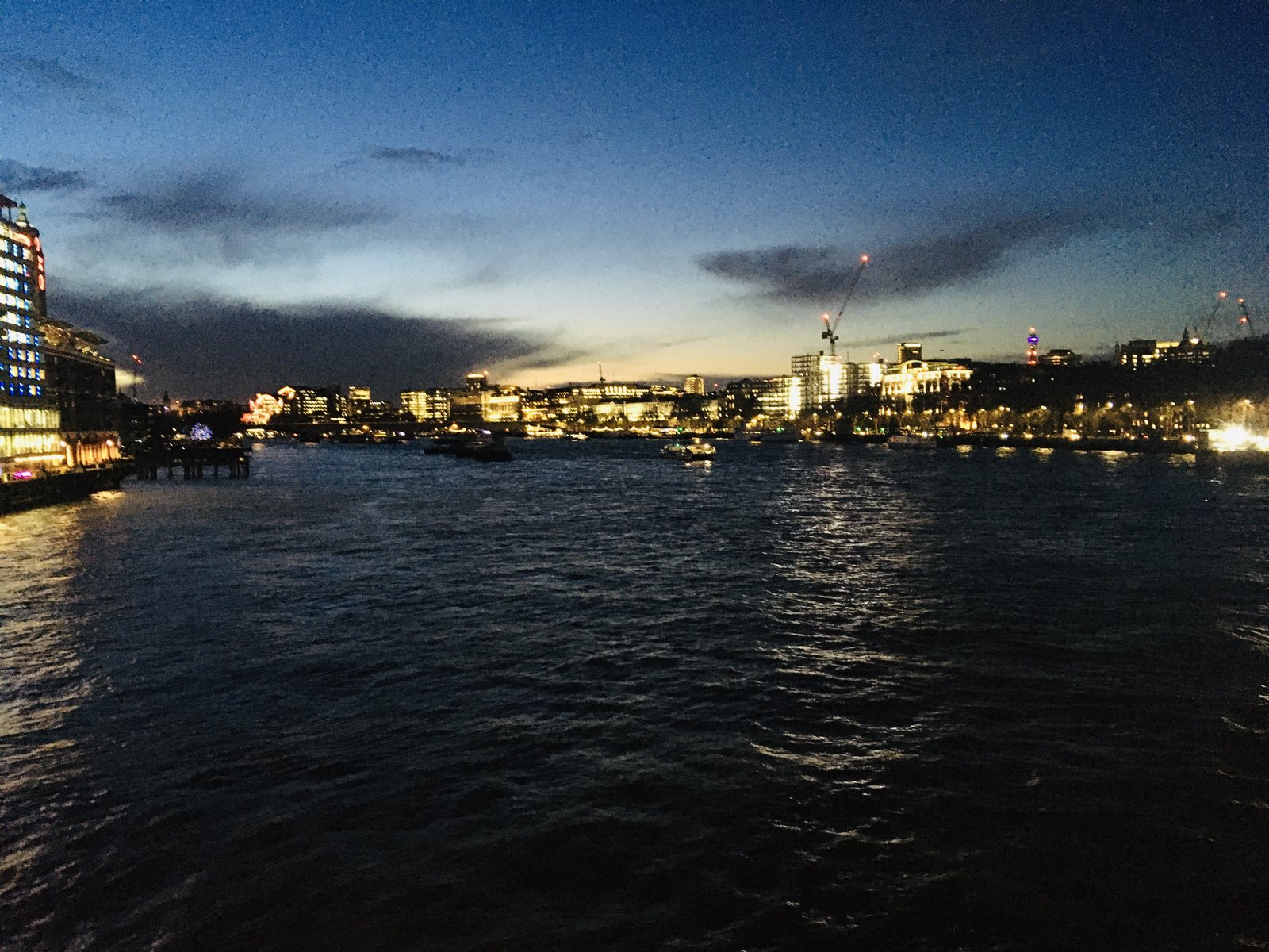 Sunset over the River Thames at London