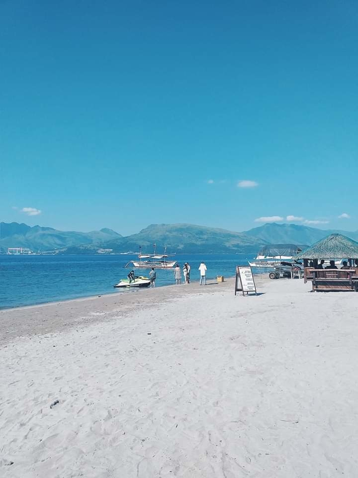 White sandy beach at Blue Rock resort in Subic Bay