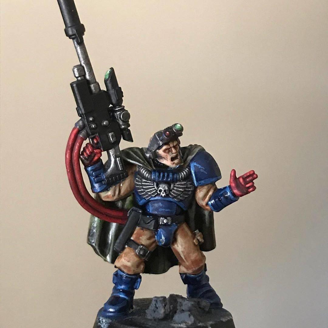 Crimson Fists Scout Sniper Seargent