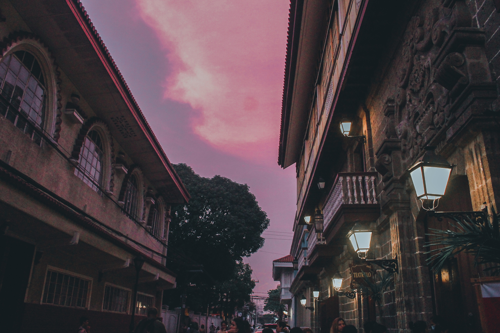 Pink Skies over the old walled city of Intramuros, Manila
