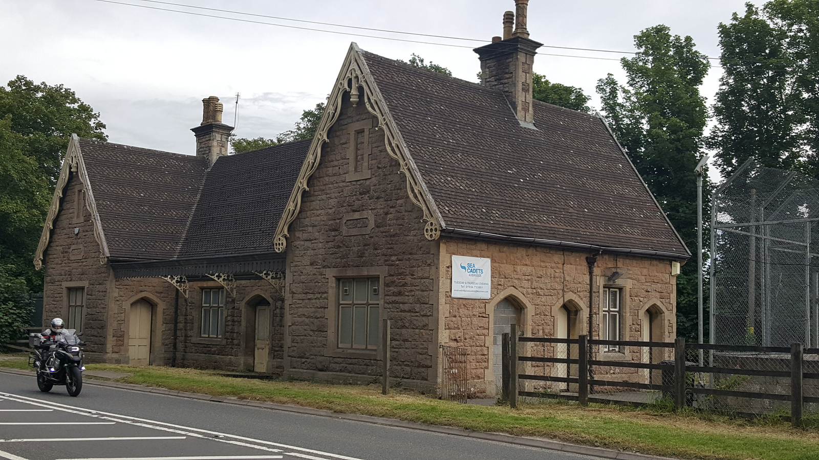 Axbridge Station Building from the A371 Axbridge By-pass