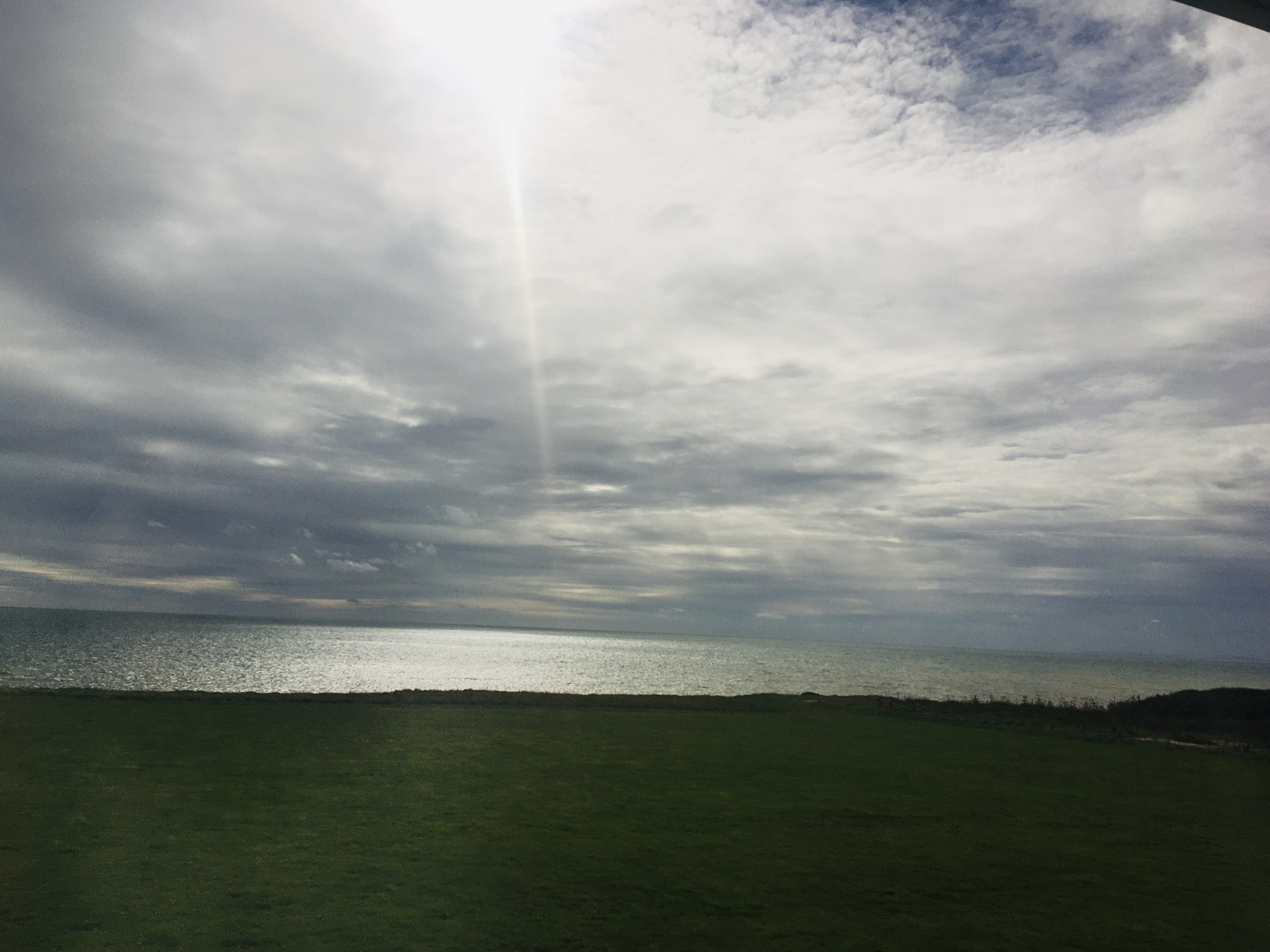 Sun and Cloud over the English Channel