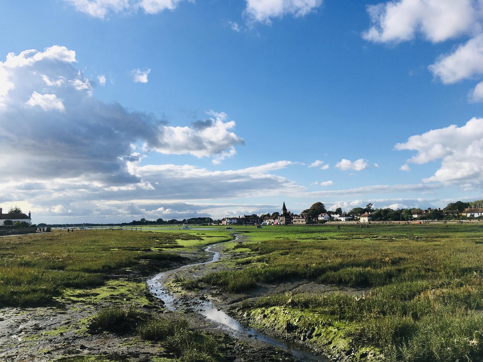 Village of Bosham at low tide