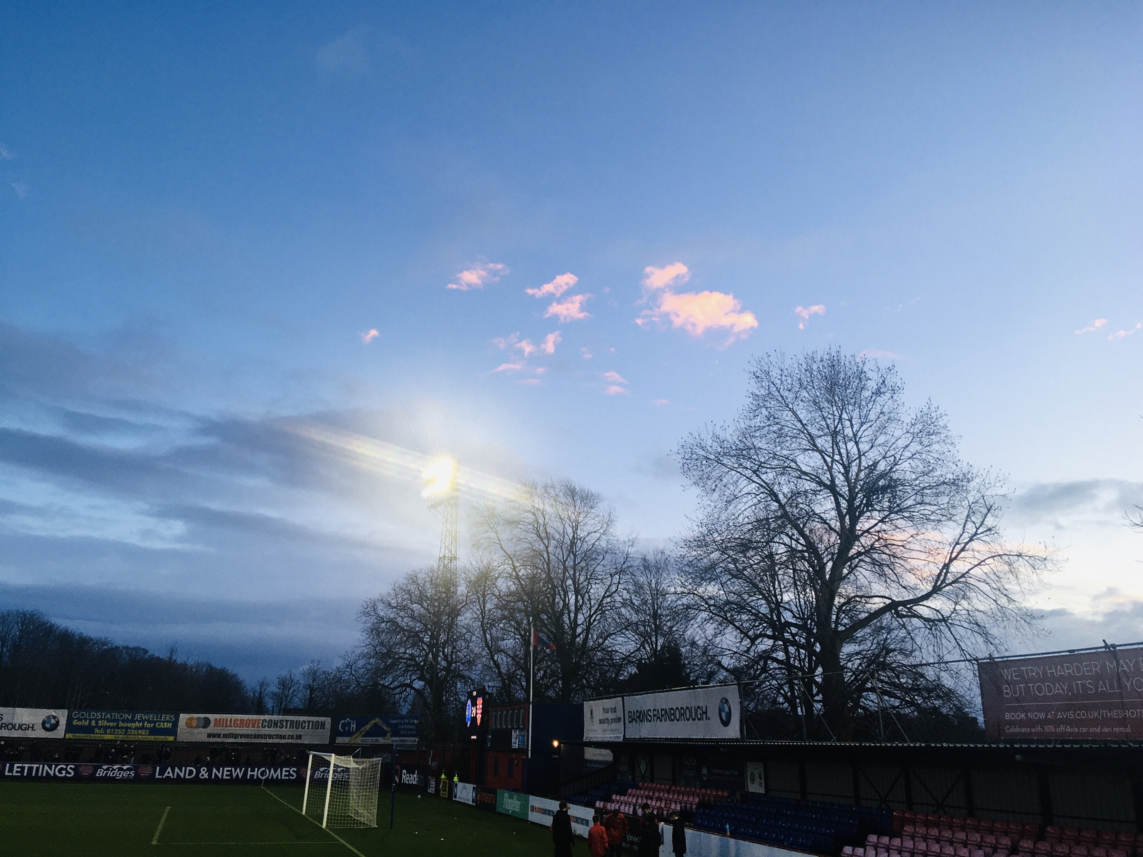Floodlights and Clouds