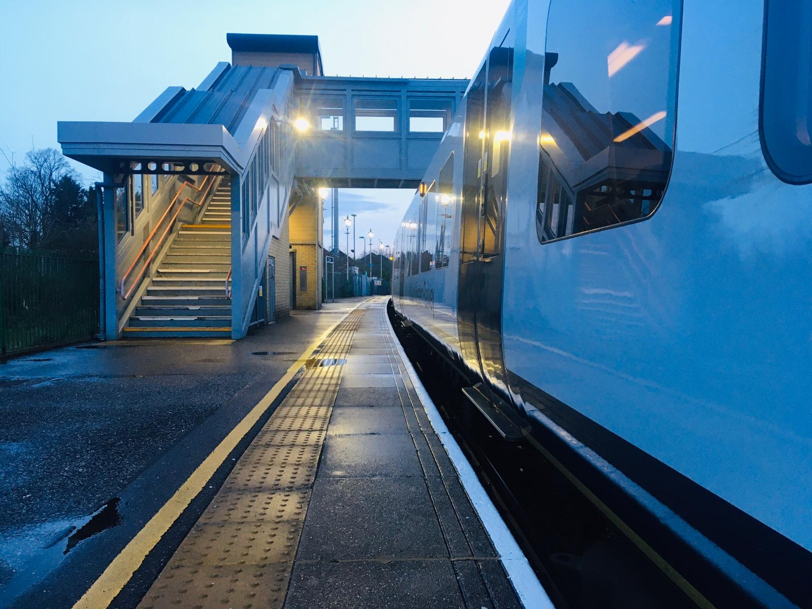 Early Morning at Alton Railway Station in Hampshire.