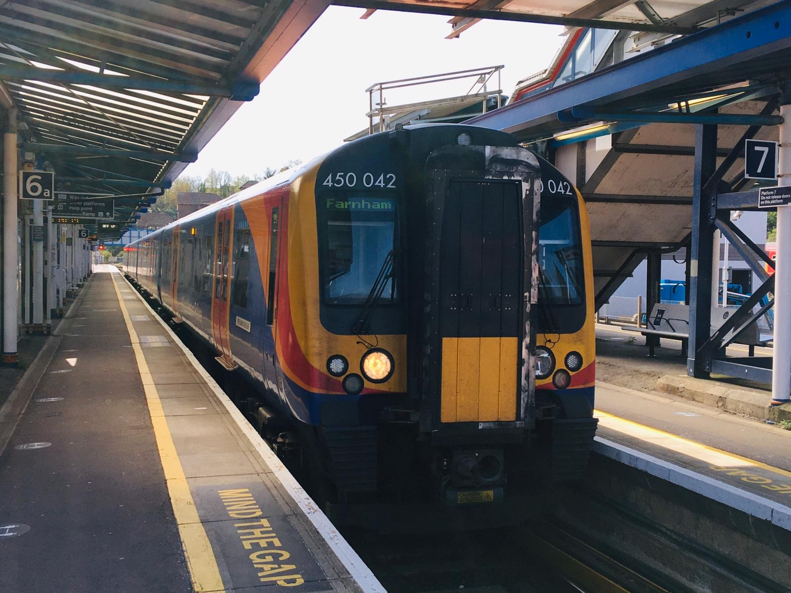 South Western Railway Class 450 Desiro at Guildford.