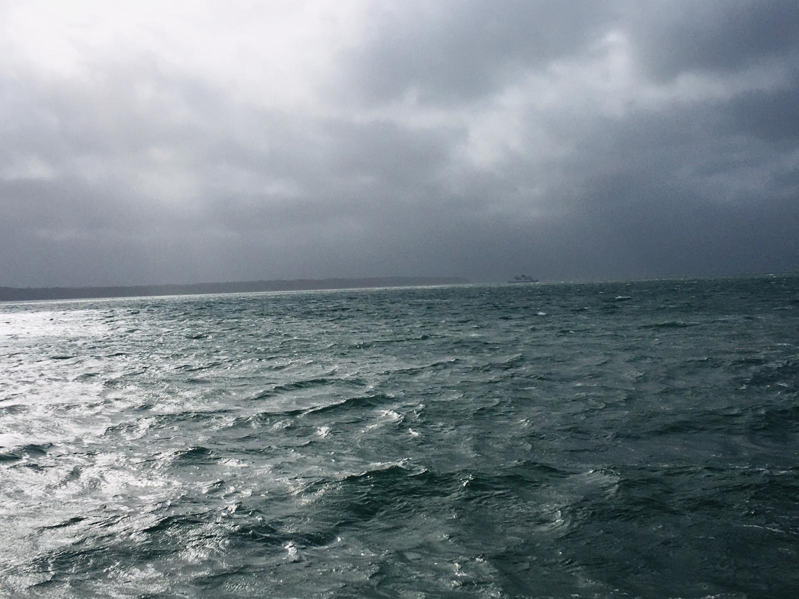 Storm Clouds over The Solent.
