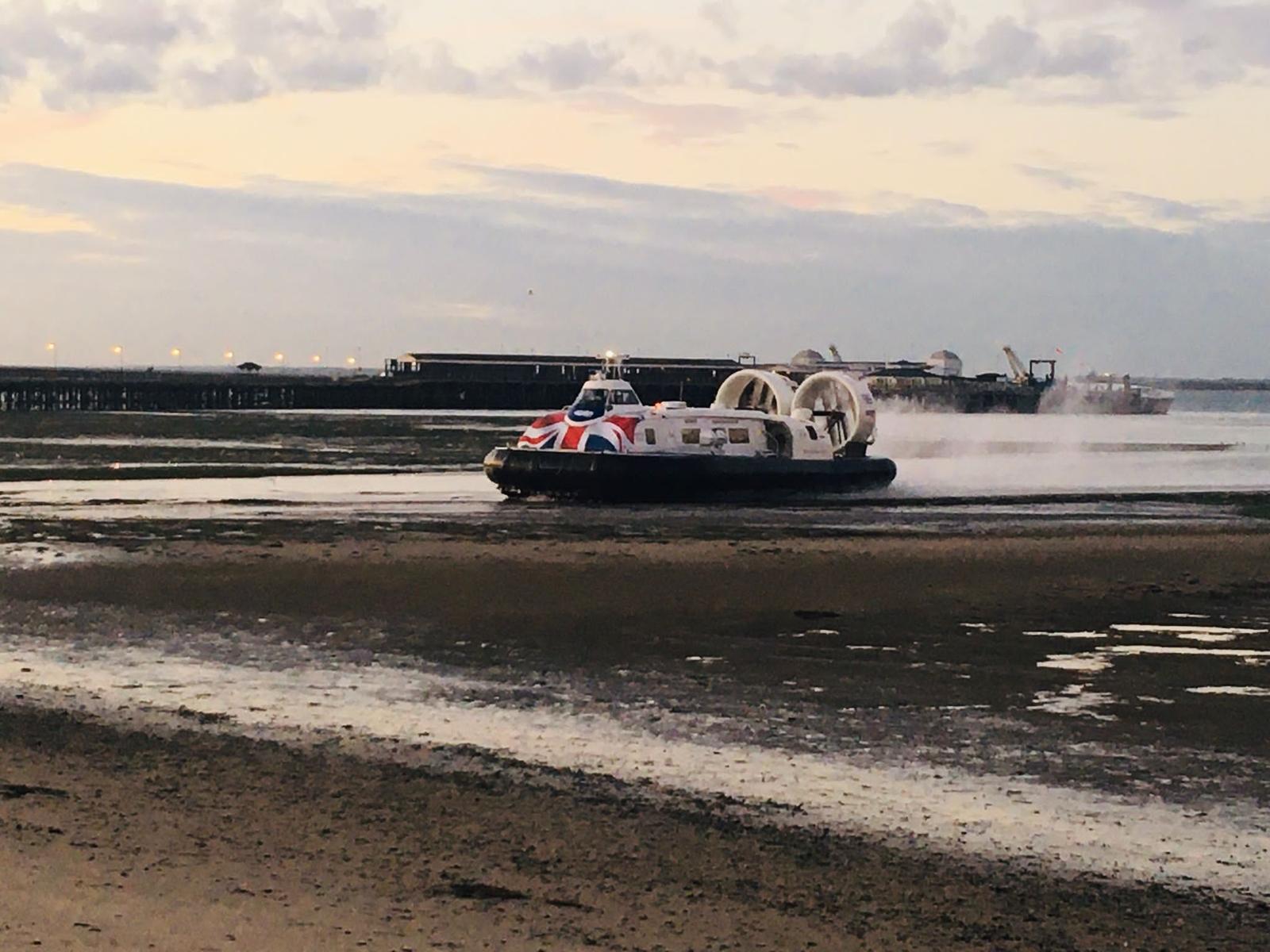 Hovercraft at Ryde.